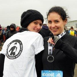 Amy Hoy runs half marathon to raise funds for MDIRF