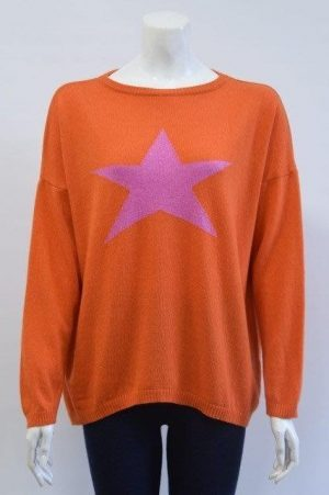 Ladies mixed Cashmere Star Jumpers in various colours